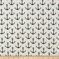 Fabtrends French Terry Anchor White
