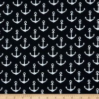 Fabtrends French Terry Anchor Black