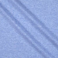 Fabtrends Heathered French Terry Solid Blue