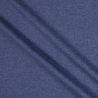 Fabtrends Heathered French Terry Solid Denim