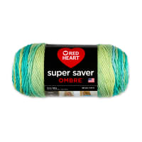 Red Heart Super Saver Ombre Yarn, Seaside
