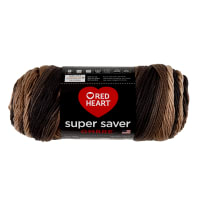 Red Heart Super Saver Ombre Yarn Hickory