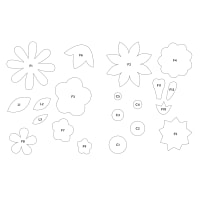 Riley Blake Blooming Blossom Template Set by Gerri Robinson