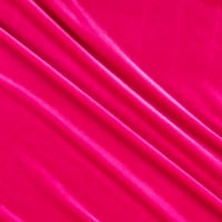 Stretch Velvet Hot Pink