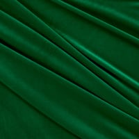 Stretch Velvet Flag Green