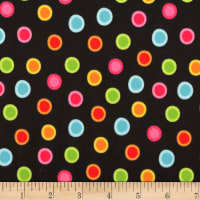 Michael Miller Minky Neon Jungle Trixx o' Dots Black