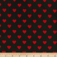 Michael Miller Minky Mini Menagerie Grunge Heavy Hearts Black