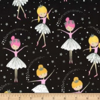 Michael Miller Fabrics Minky We are Sparkle & Shine  Dancing Among the Stars Midnite