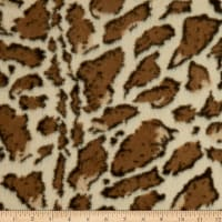 Giraffe Faux Fur Ivory/Brown