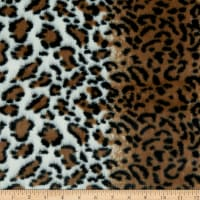 Striped Leopard Faux Fur Brown/Black/White
