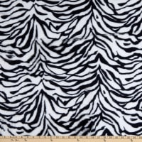 Zebra Faux Fur Black/White