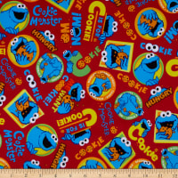 EXCLUSIVE MINKY Sesame Street C Is For Cookie Red
