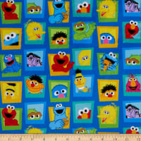 EXCLUSIVE MINKY Sesame Street Mixed Characters in Block