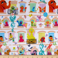 EXCLUSIVE MINKY Sesame Street Character Window Multi
