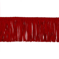 "3"" Chainette Fringe Trim Red"