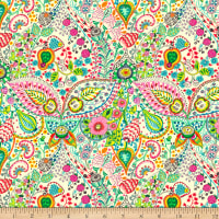 QT Fabrics Evelyn Decorative Floral Medallion Cream