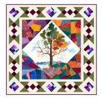 "QT Fabrics His Majesty-The Tree Kit 39"" x 39"" Quilt Kit"