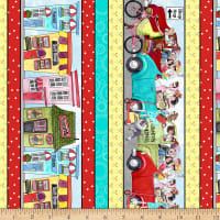 "QT Fabrics It's A Shop Hop 10"" Stripe Multi"