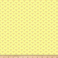 QT Fabrics It's A Shop Hop Scissors Yellow