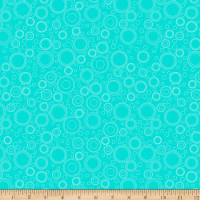 QT Fabrics It's A Shop Hop Circle Geo Aqua