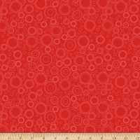 QT Fabrics It's A Shop Hop Circle Geo Red