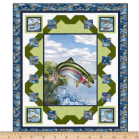 "QT Fabrics Artworks XV Fishermans Dream 50"" x 58"" Qlt Kit"