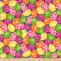 QT Fabrics Easter Parade Easter Eggs Multi