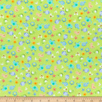 QT Fabrics Lil' Sunshine Animal Toss Light Green