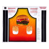 "QT Fabrics Sew N Go XI Burger Apron 36"" Panel Orange"