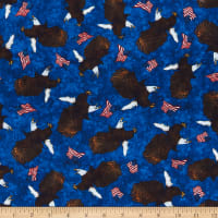 QT Fabrics All American Eagle Toss Navy