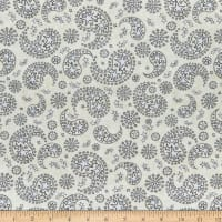 QT Fabrics All American Star Paisley Cream