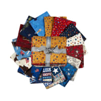 QT Fabrics All American Fat Quarter Bundle 18 pcs Multi
