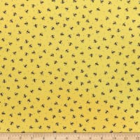QT Fabrics All The Buzz Bees Yellow