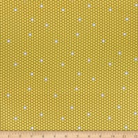QT Fabrics All The Buzz Geo Yellow