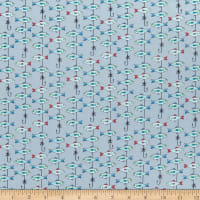 QT Fabrics Gnomesville Fish Light Grey