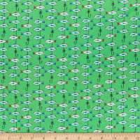 QT Fabrics Gnomesville Fish Light Green