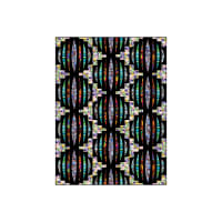 "QT Fabrics Transcendence Sound Wave 60"" x 80"" Quilt Kit Black"