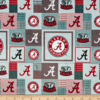 NCAA Alabama Crimson Tide Heather Gray Box Minky