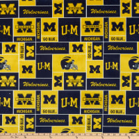 NCAA Michigan Wolverines Box Minky