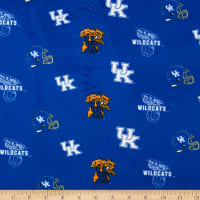 NCAA Kentucky Wildcats Tossed Logo Minky Blue/White/Orange