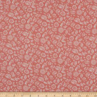Fabtrends Rayon Soleil Floral  Fields Peach Ivory