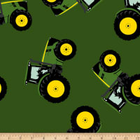 John Deere Flannel Farm Toss Multi
