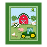 "John Deere Nursery Barn Yard 36"" Panel Green"