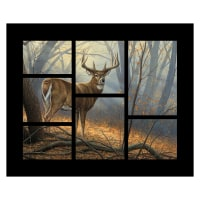 "Wild Wings Field Day Deer 36"" Panel Brown"