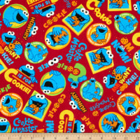 EXCLUSIVE Stretch Knit Sesame Street Digital Cookie Monster Toss Red