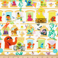 EXCLUSIVE KNIT Sesame Street Digital Characters in Windows White