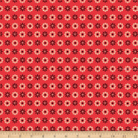 Clothworks WIGGLEBUTTS Geometric Red