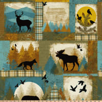 Clothworks Wild and Free Blocks Multi Color
