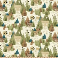 Clothworks Wild and Free Toile Multi Color