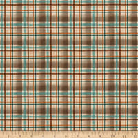 Clothworks Wild and Free Plaid Brown